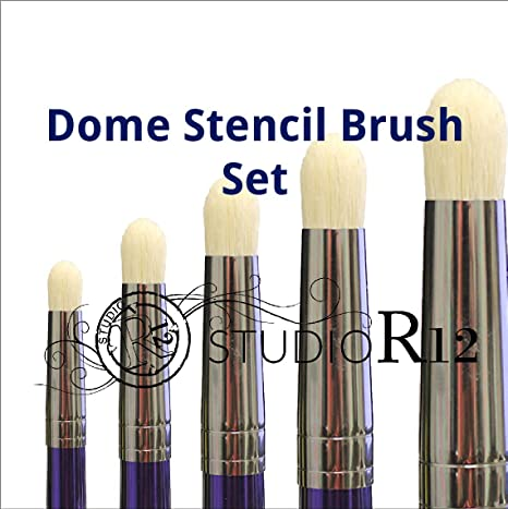 Scumble Swirl Dome Stencil Brush 1//4 Dry Brush Select Size DIY Crafting /& Painting Tools Prevent Bleeding