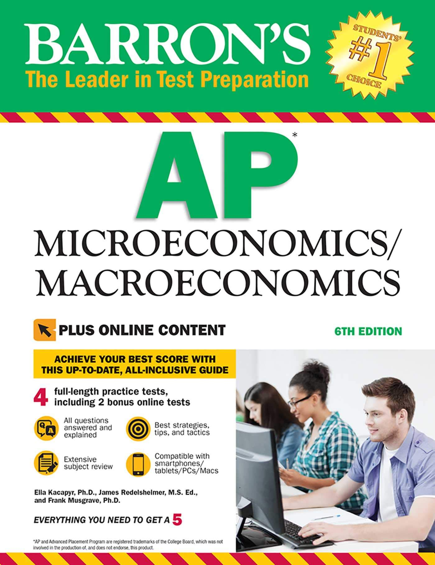 AP Microeconomics/Macroeconomics with Online Tests (Barron's Test Prep)