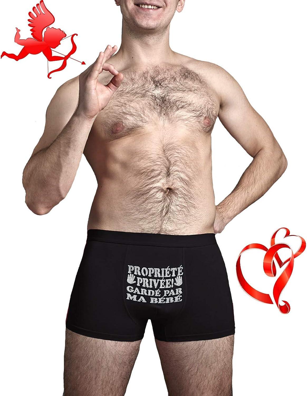 Propri/ét/é priv/ée Cadeau danniversaire dr/ôle Boxers pour Hommes Gard/é par ma b/éb/é Herr Plavkin