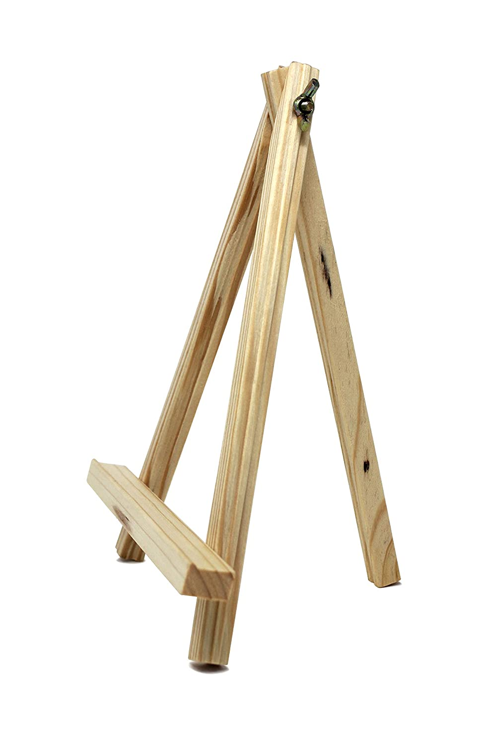 6-Pack VViViD Natural Pine 9 Tall Adjustable Tripod Display Easel