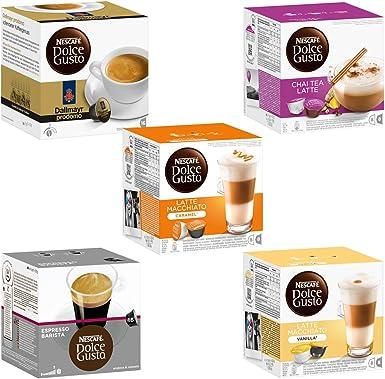Nescafé Dolce Gusto Set de Cápsulas Exótico, 5 Tipos, Café ...