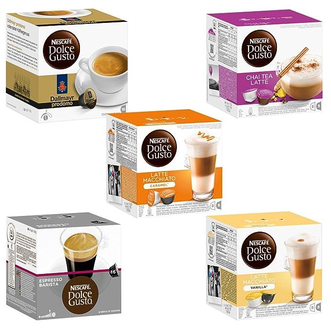 Nescafé Dolce Gusto Set de Cápsulas Exótico, 5 Tipos, Café, Cápsulas de Café