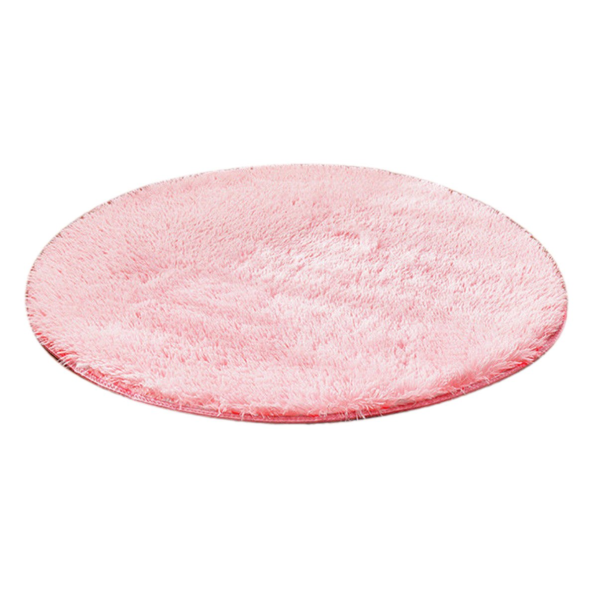 4ft Round Area Rug for Living Room Bedroom Kids Play Tent Solid Hot Pink Ebest