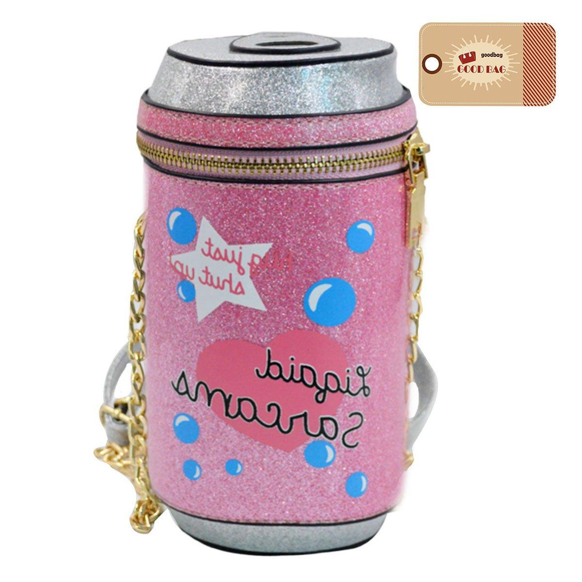 Goodbag Boutique Women Cola Bottle Shape Sparkly Purse Girls Chain Shoulder Bag Crossbody Mini Bucket Purse by Goodbag Boutique (Image #1)