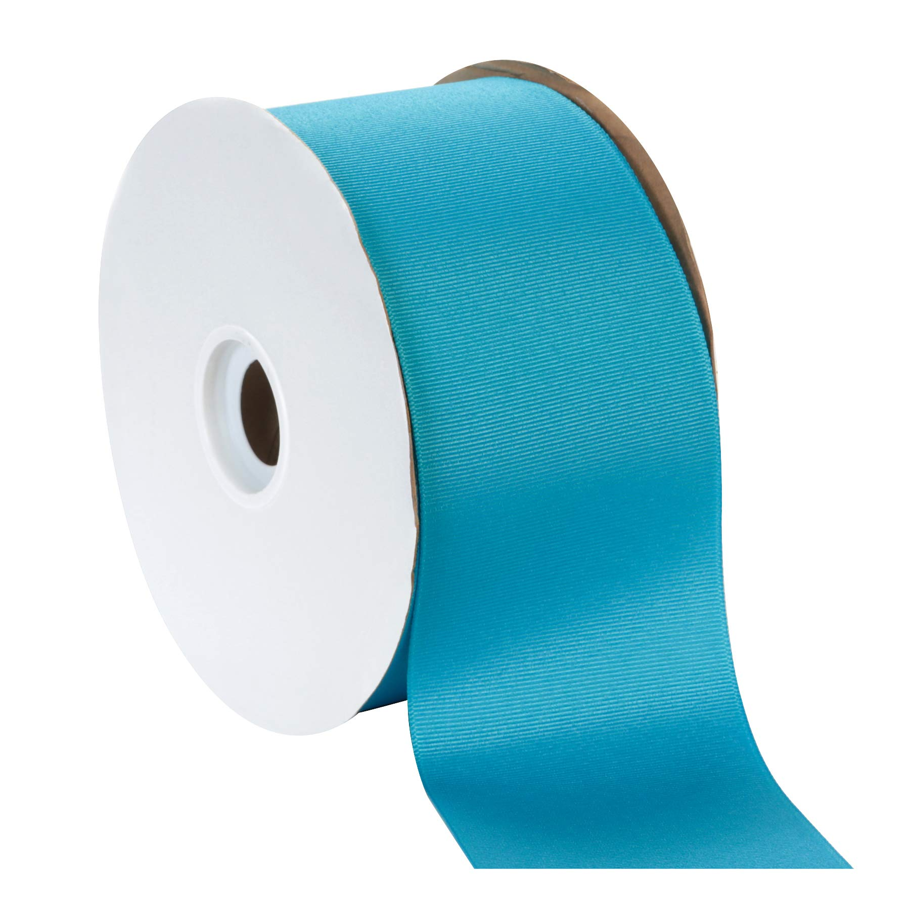 Berwick Offray 3'' Grosgrain Ribbon, Turquoise Blue, 50 Yards