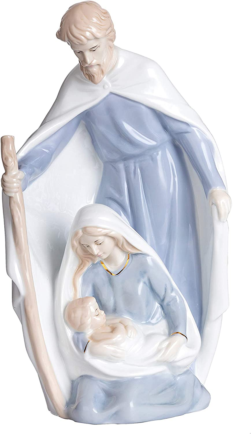 Catholic Holy Family Statue,11 inches Saint Joseph Statue, Ceramic Statue for Parents and Elders Who Love Religious Inspiration,Statuette Worth Collecting