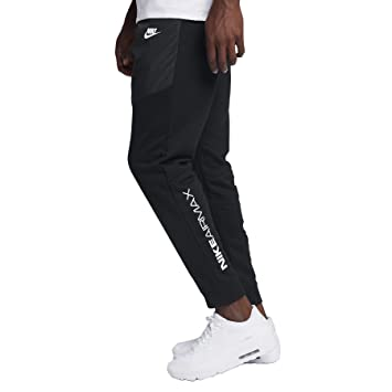 10a641790fff Nike Mens Air Max 2 Woven Jogger Sweatpants Black White 863740-010 Size  Small  Amazon.co.uk  Sports   Outdoors