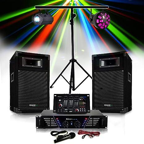 Pack sono amplificador + altavoces 500 W + mesa de mezclas 4 ...