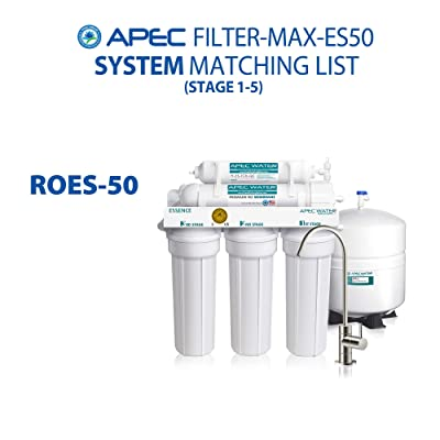 APEC Water Systems ROES-50 Essence Series Top Tier 5-Stage Drinking Water Filter System /& Filter-Set-ES High Capacity Replacement Pre-Filter Set for Essence Series Reverse Osmosis Water Filter System