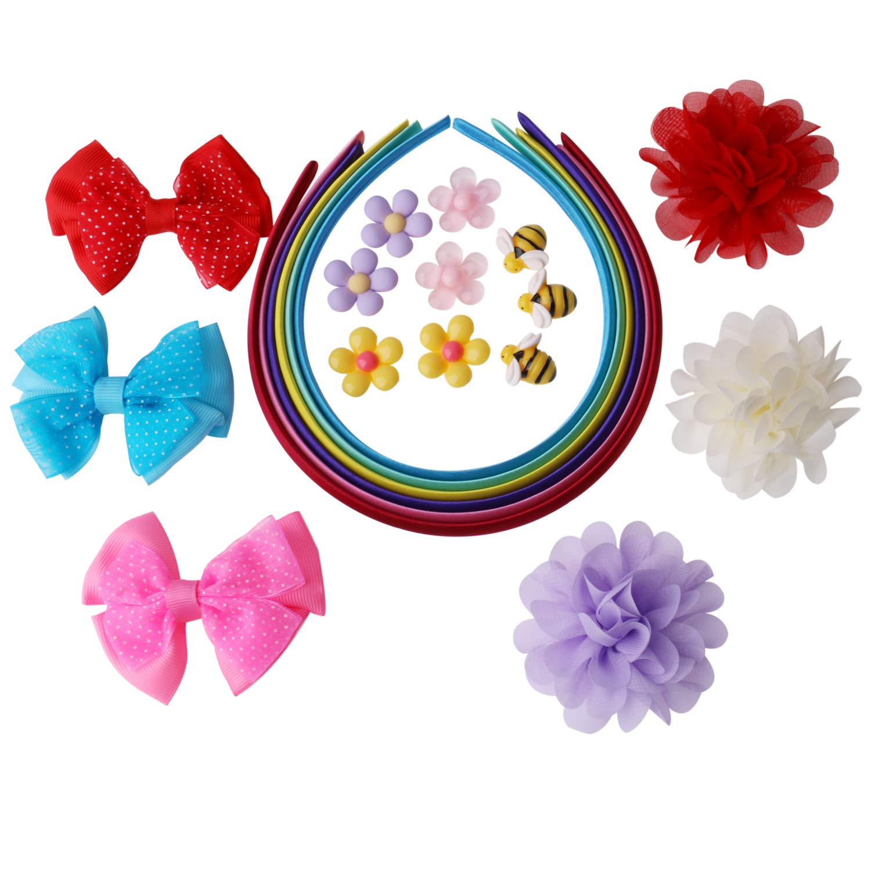 Olen Fashion Headband Making Kit for Girls Age 6 10 Headbands Craft Kit Set of 22