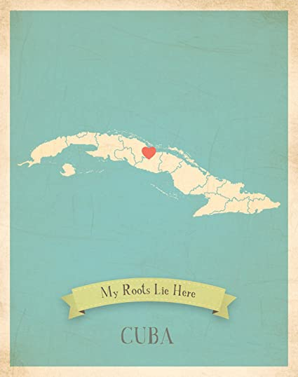 Wall Map, My Roots Cuba Personalized Wall Map 11x14, Kid\'s Cuba Map Wall  Art, Wall Art Print, Nursery Decor, Nursery Wall Art