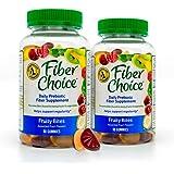 Fiber Choice Fruity Bites Prebiotic Fiber Gummies, #1 Gastroenterologist Recommendedⱡ, Helps Support Regularity…