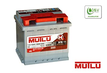 Batería de coche Mutlu de máxima calidad, 55 Ah, 600 A, 12 V. Cuenta con certificado original OEM I para instalación en automóviles.