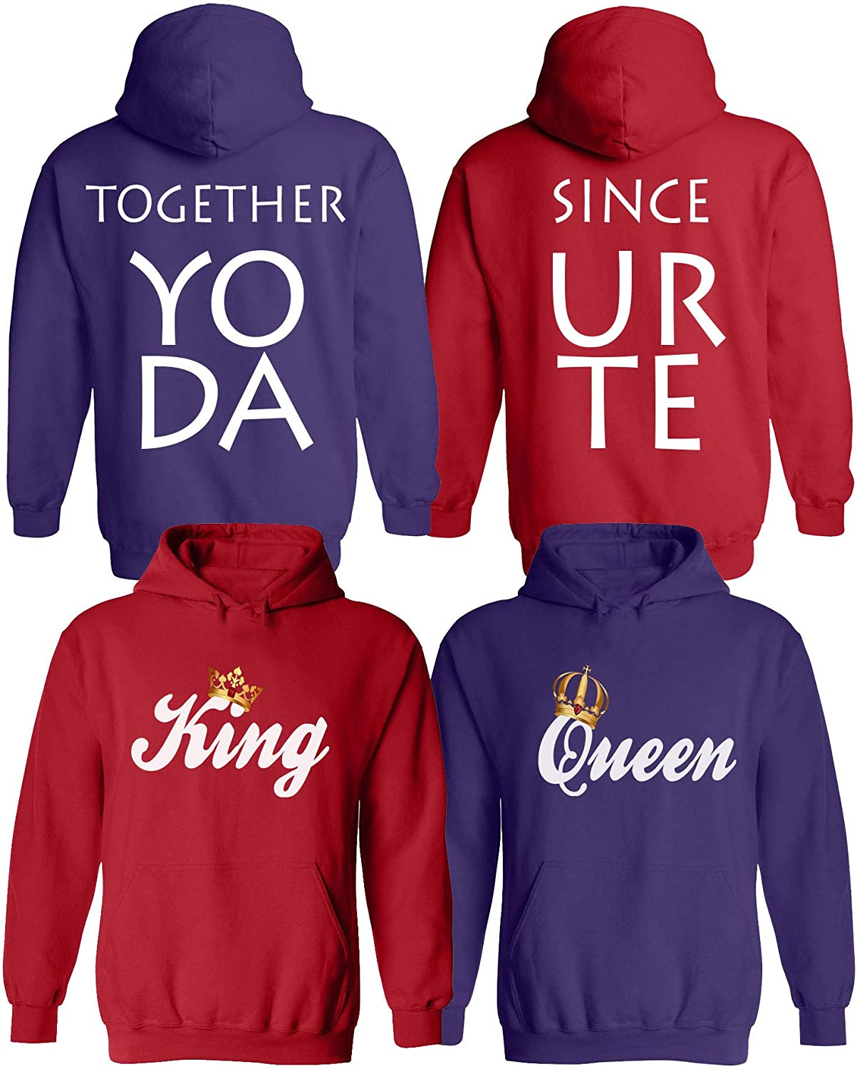 Couple Custom Made Crewneck Married Since King And Queen Custom Matching Sweater