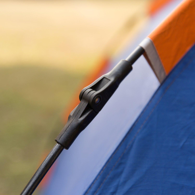 azul y naranja HollyHome doble capa 2 puertas ligera y resistente al agua Tienda de campa/ña con bolsa de transporte 4 estaciones