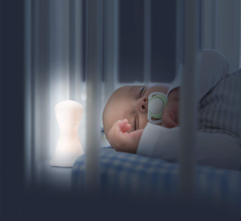 3 Leuchtstufen spendet Orientierung und Sicherheit im Dunkeln Leuchtdauer bis zu 12 Stunden wei/ß NUK 10256482 NUK Tragbares Nachtlicht inklusive USB-Kabel 130 g