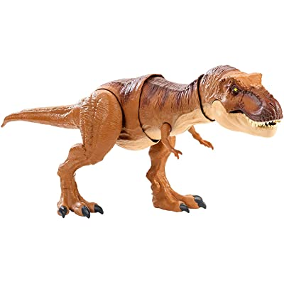 Jurassic World Thrash 'n Throw Tyrannosaurus Rex Figure: Toys & Games