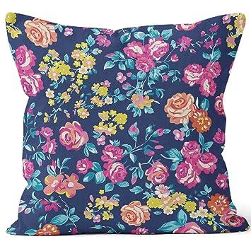 Amazon.com: Neon Bright Rose Garden - Funda de almohada de ...