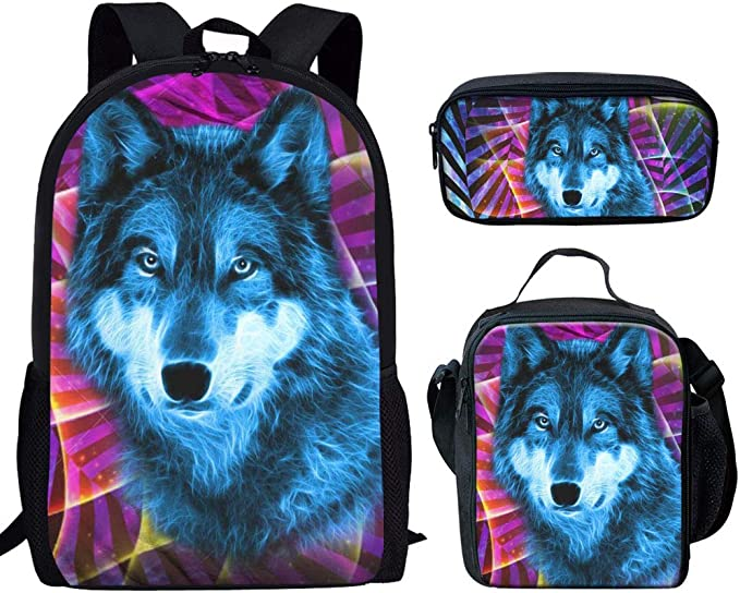 Sad Little Bulldog Backpack and Pencil Case Set