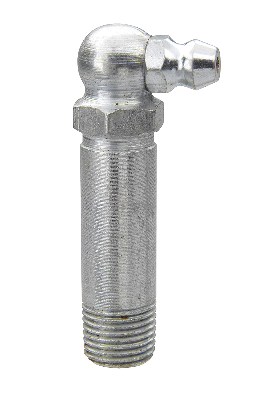 Alemite 1606-B Hydraulic Loose Fitting 1//8 PTF Hex Size 7//16 Length 1-13//16 Shank Length 1-1//4 90 Degree