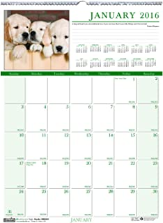 """product image for House of Doolittle 2016 Monthly Wall Calendar, 12"""" x 16.5"""", Earthscapes Puppies (HOD3652-16)"""
