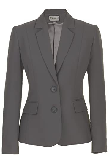 2d86dae1a1b9e Busy Clothing Women Suit Jacket Grey: Amazon.co.uk: Clothing