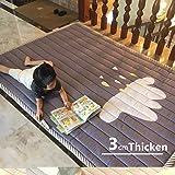 USTIDE Simple Design Pure Color Children Crawling Mat Non-Slip Thicken Washable Carpet