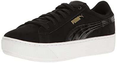 f655de83014 PUMA Women s Vikky Platform Fashion Sneaker Black White