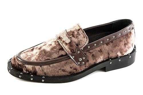 Bronx BR1-66000-D-123 - Mocasines de Lona para Mujer Dorado Dorado 36 EU: Amazon.es: Zapatos y complementos