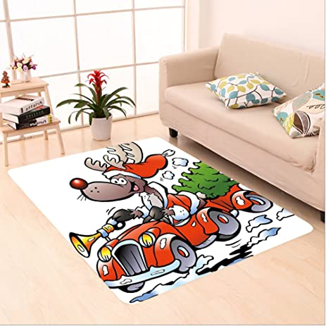 Amazon Com Nalahome Custom Carpet Dolph Reindeer Racing In Red