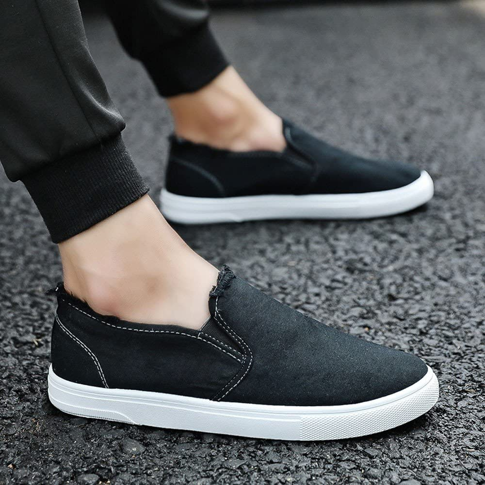 Unisex Era Skate Shoes RQWEIN Basic and Classic Low-Top Style in Durable Double-Stitched White Canvas Sneakers for Men