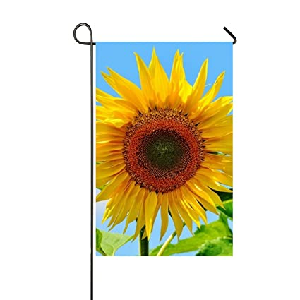 XASFF Pretty Sunflower Garden Flag Decorative Welcome Flag Double Sided  Premium Banner