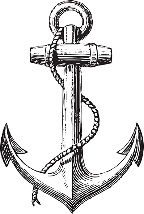 size. Wall sticker decal art Anchor Nautical Vintage Home Decor Any colour