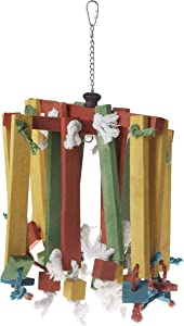 Prevue Pet Products 60948 Bodacious Bites Wood Chimes Bird Toy, Multicolor