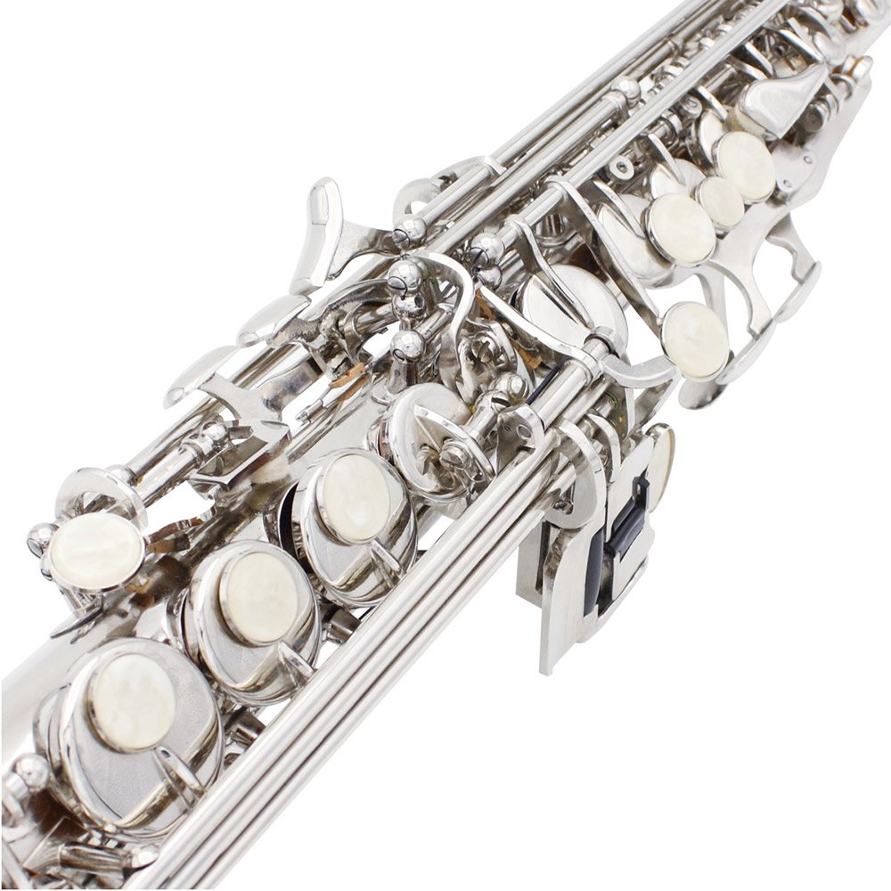 LADE Soprano Saxophone SAX Bb Brass Lacquered Body and Keys with Lubricating Cork Grease by LADE (Image #4)