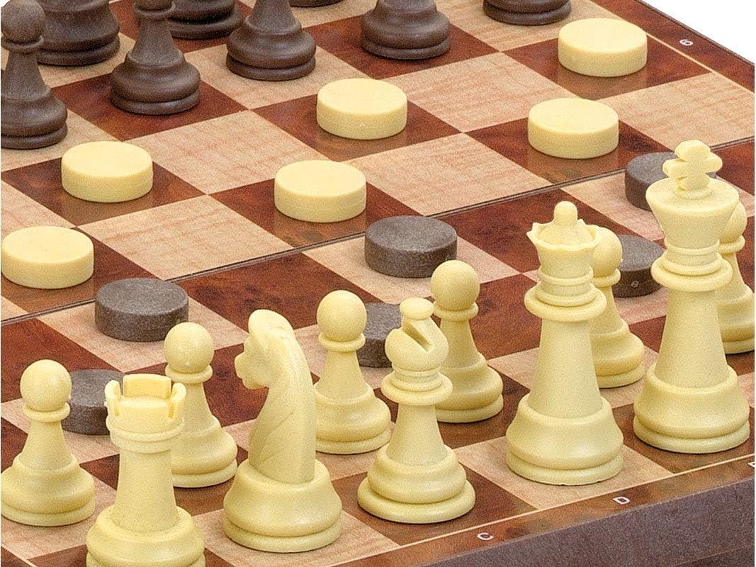 Cayro - Ajedrez y Damas magnético con Piezas 24x24— Juego de observación y lógica - Juego Mesa - Desarrollo de Habilidades cognitivas e inteligencias múltiples - Juego Tradicional (453): Amazon.es: Juguetes y juegos