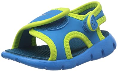 cbaf3c83a Nike Kids Unisex Sunray Adjust 4 (Infant Toddler) Vivid Blue Volt