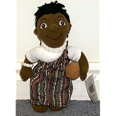 "Retired Disney It's a Small World 8"" African Boy Plush Bean Bag Doll Mint with Tags: Toys & Games"