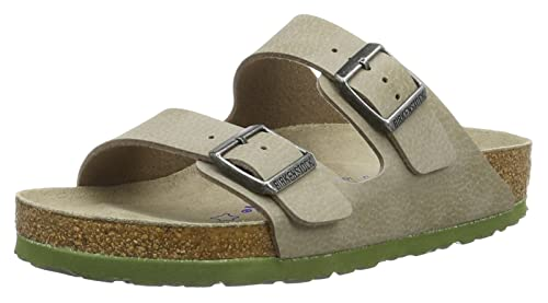 Birkenstock Arizona Birko-Flor Softfootbed, Unisex Adults' Mules, Gray  (Desert Soil