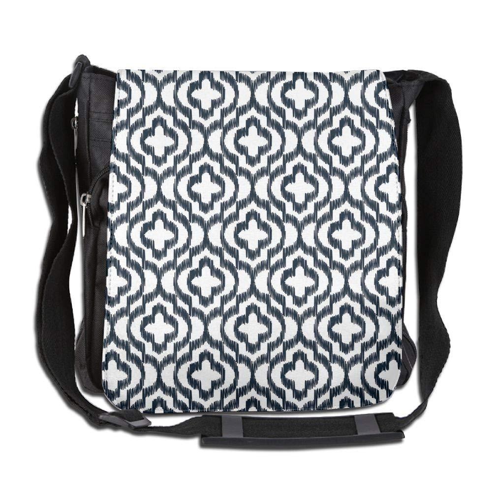 SARA NELL Messenger Bag,Quatrefoil Contour,Unisex Shoulder Backpack Cross-body Sling Bag
