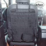 2 Pack Car Seat Back Organizer with Gun Rack Feature Tactical Seat Cover Molle Vehicle Panel Car Seat Cover Protector…