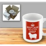 Pet Lover Designer Mug - Keep Calm And Hug Your Sheep