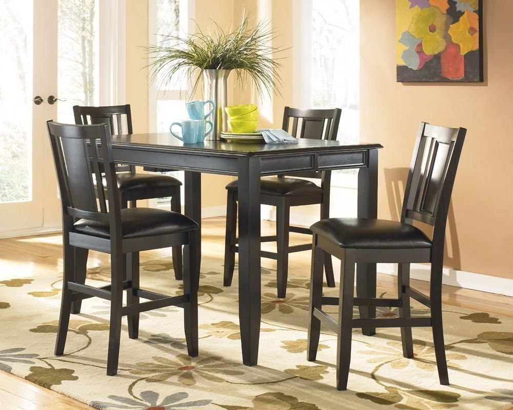 Carlyle Butterfly Leaf Counter Height Table By Ashley Furniture Amazon Ca Home Kitchen