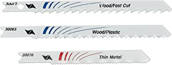 3x3 Universal fit Jigsaw Blade for Metal Wood Ceramic set of 3