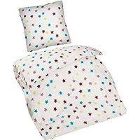 Aminata Kids - Kinderbettwäsche Sterne 135x200 cm