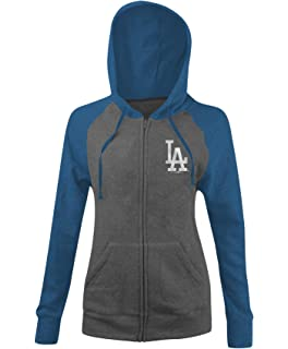 c236613a New Era Los Angeles Dodgers Women's MLB Double Tri-Blend Hooded Sweatshirt