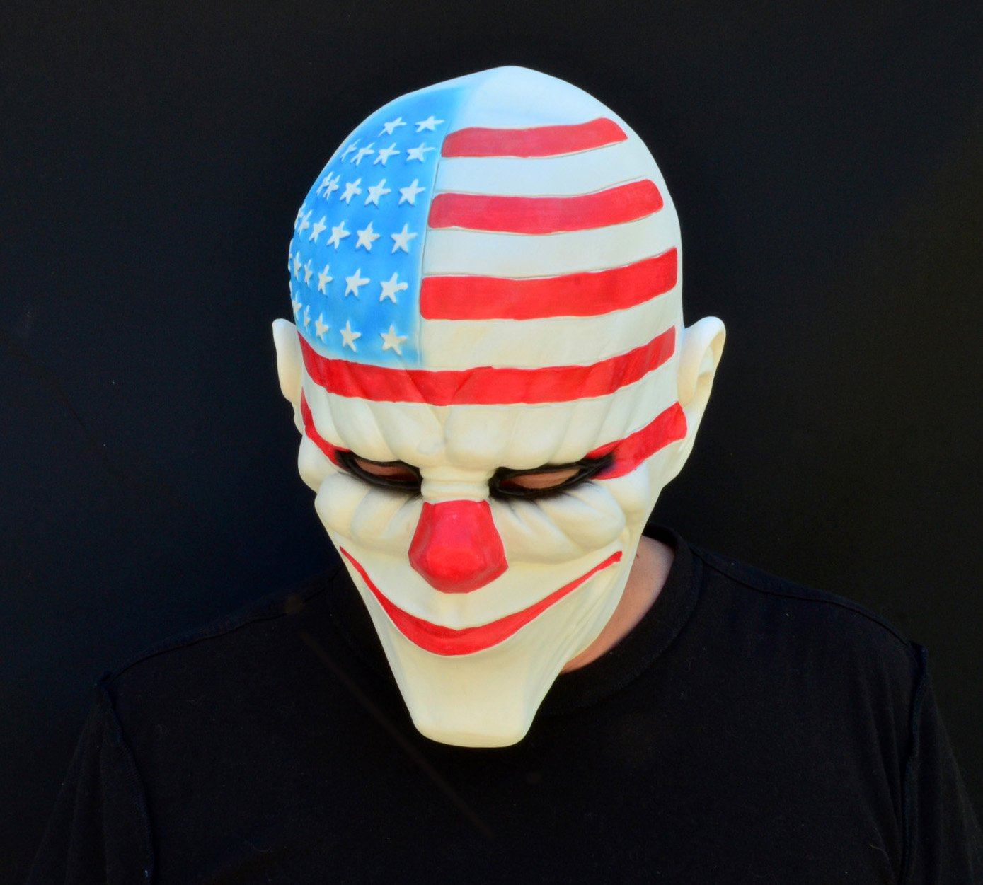 Acid Tactical Scary Creepy Halloween Clown Purge Evil Latex Mask - American Flag Uncle Sam Clown by Acid Tactical