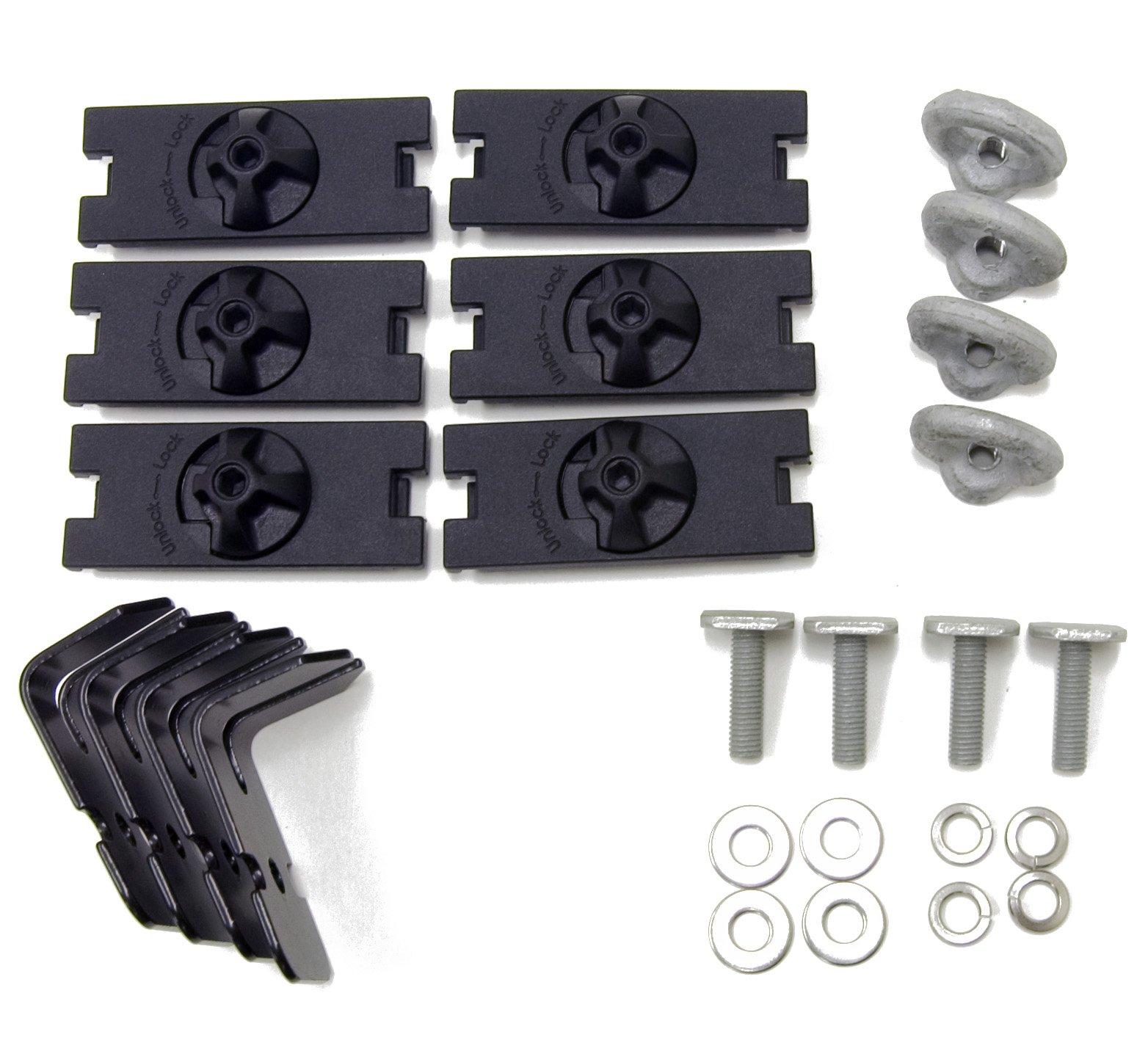 Rhino Rack Alloy Tray Aero Fitting Kit (Fits 2 Cross Bars and 4 Planks)