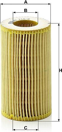 Original Mann Filter Ölfilter Hu 718 6 X Ölfilter Satz Mit Dichtung Dichtungssatz Für Pkw Auto