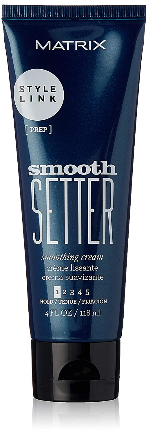 Matrix Style Link Smooth Setter Smoothing Cream for Frizzy Hair, 4 Fl. Oz. (Packaging May Vary)